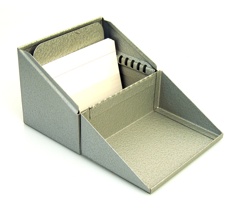 Bauhaus style retro address card holder
