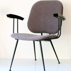 Beautiful Brabantia 50s chair, upholstered gray, vintage retro