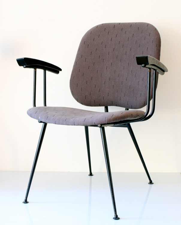 Beautiful Brabantia 50s chair, upholstered gray, vintage retro