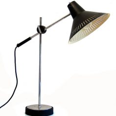 Black fifties vintage retro table lamp