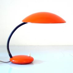 Bright orange sixties vintage desk lamp