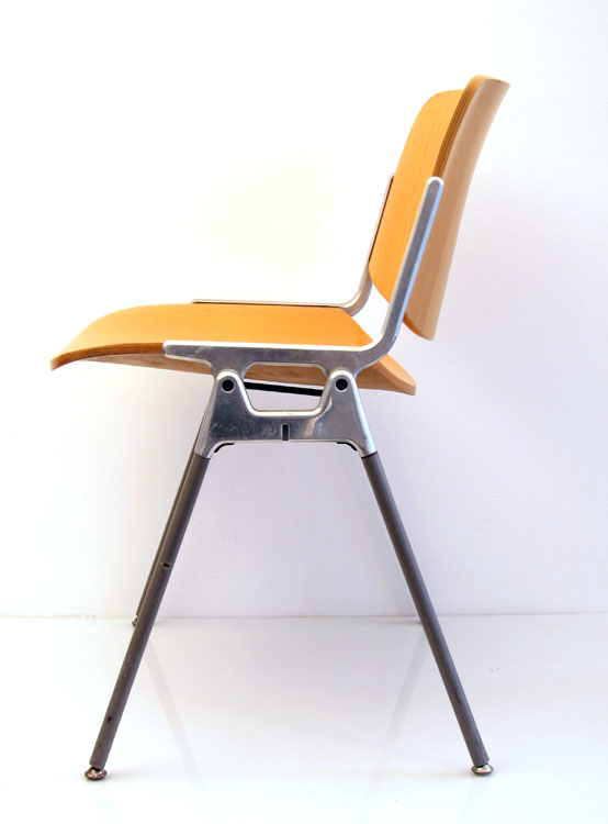 Castelli vintage plywood chair designed by Giancarlo Piretti