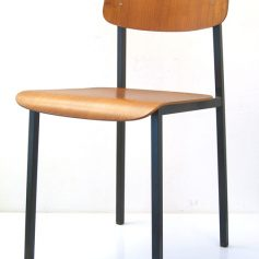 Chair, 60s, metal and plywood, vintage retro