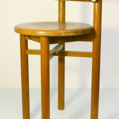 Charlotte Perriand style childrens wooden chair, 50s, vintage retro