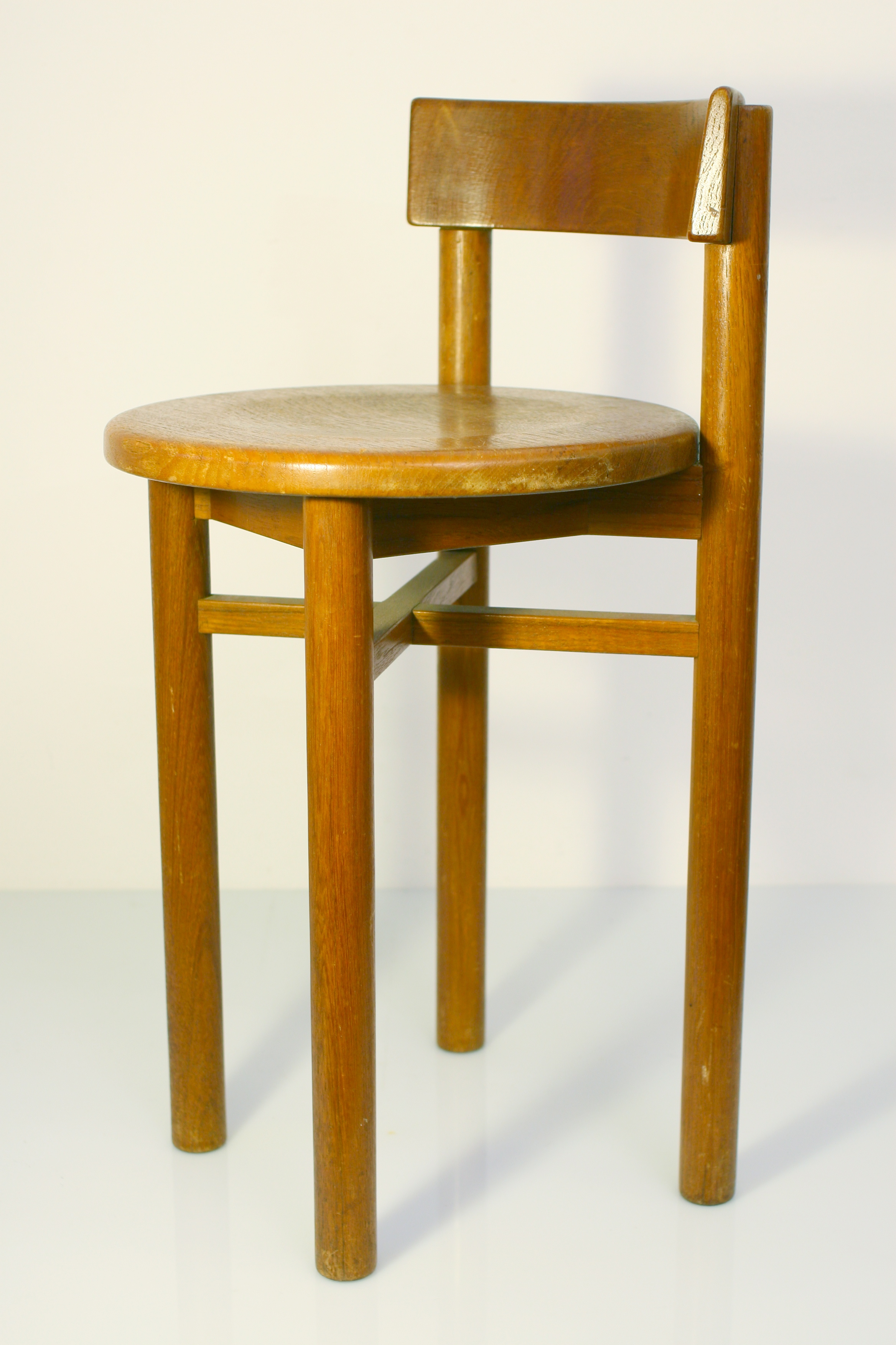 Charlotte Perriand Style Childrens Wooden Chair 50s