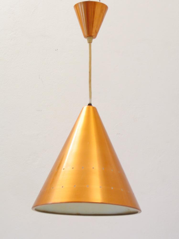 Copper Fog & Murop sixties vintage hanging lamp