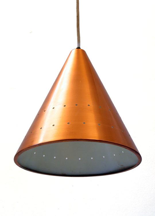 Copper Fog & Murop sixties vintage pendant lamp