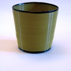 Fifties Flowerpot holder black and yellow