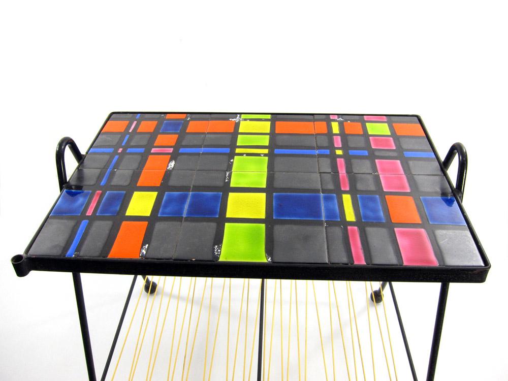 Fifties artist tiled coffee table