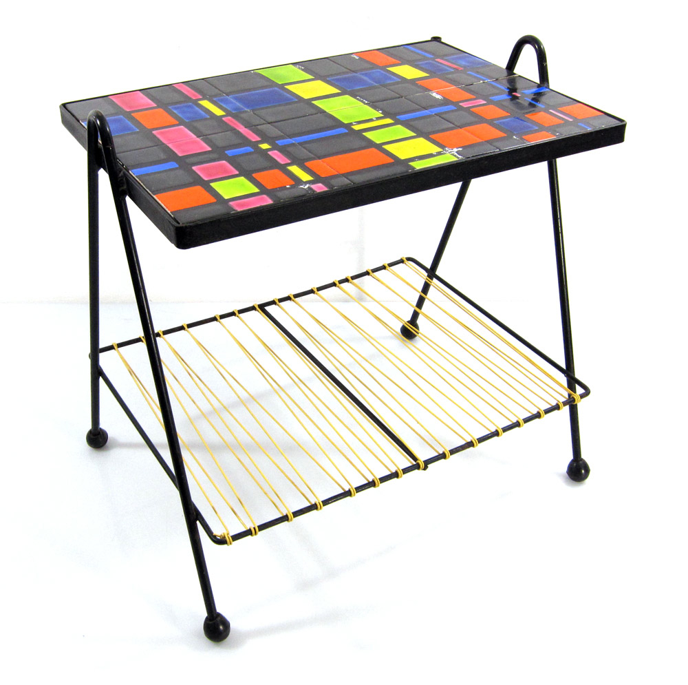 Fifties artist tiled coffee table
