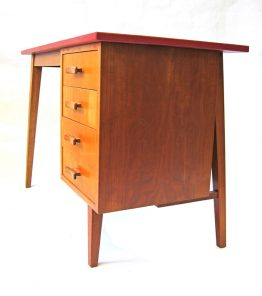 Fifties childrens vintage retro wooden desk