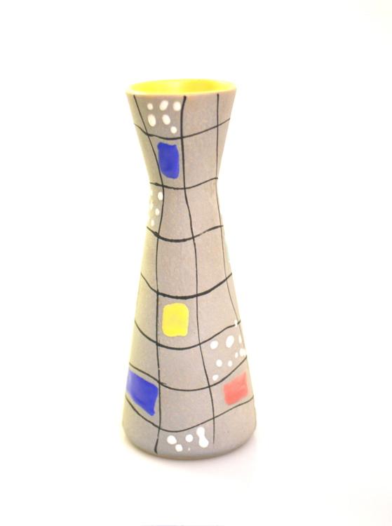 Fifties decorated ceramic vase