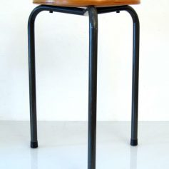 Fifties stool, wood and metal, vintage retro