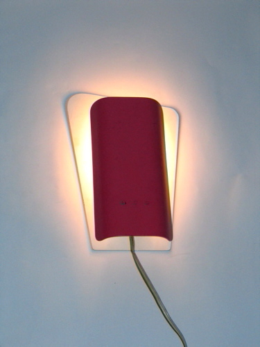 Fifties vintage retro red and white wall light
