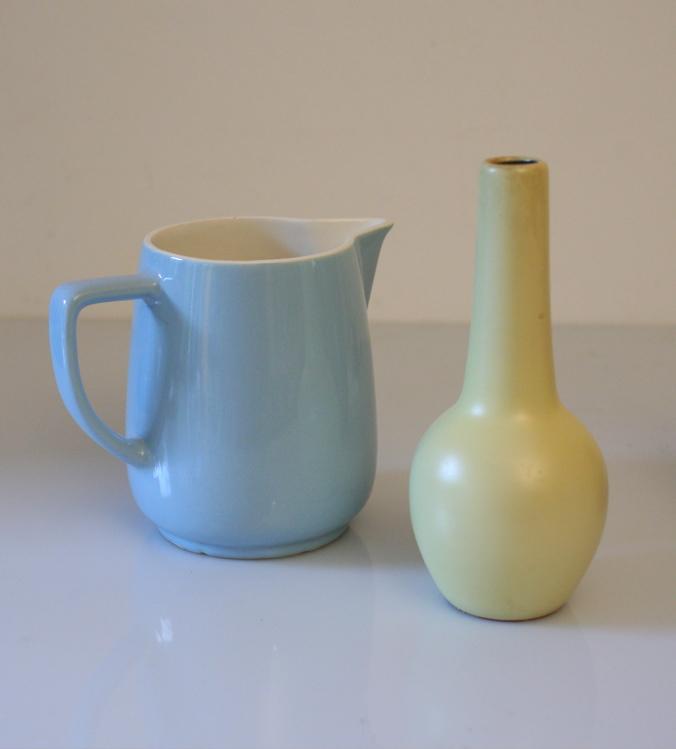 Fifties vintage water jug and vase