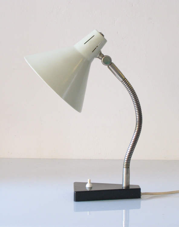 H. Busquet, Hala sixties grey vintage desk lamp