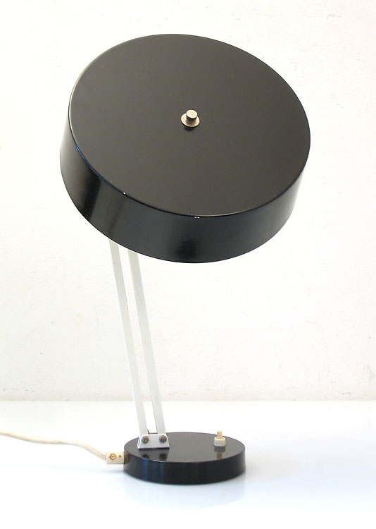 Vintage furniture links: Hala Busquet sixties black vintage desk light