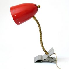 Hala red Busquet fifties retro clamp lamp
