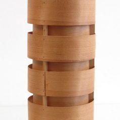 Hans Agne Jakobsson sixties wooden vintage pendant lamp