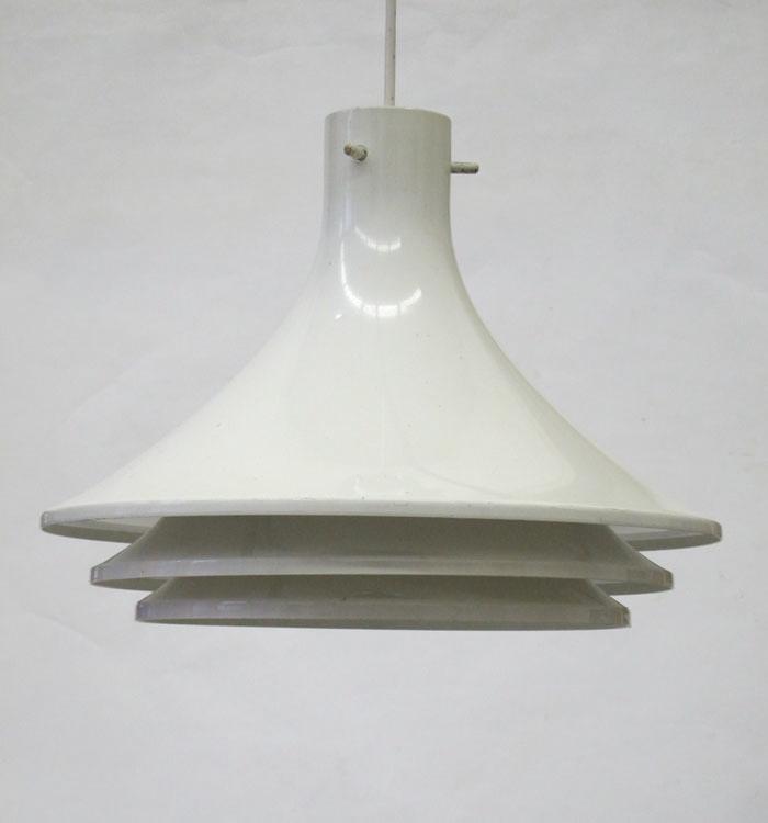 Hans Agne Jakobsson white Svera vintage pendant lamp