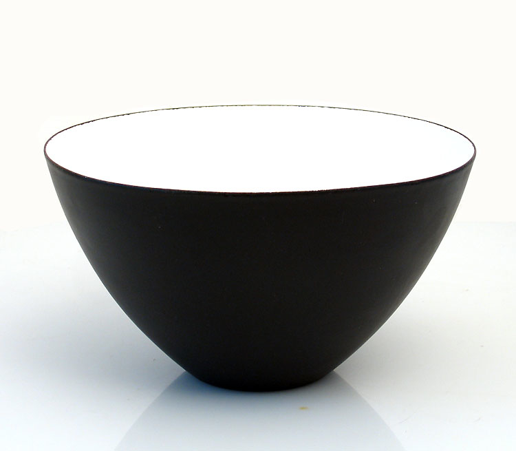 Herbert Krenchel fifties enameled metal bowl
