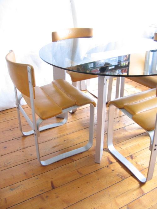 Ilmari Lappalainen Pulkka vintage dining table and 4 chairs