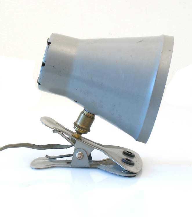 Industrial fifties metal vintage clamp lamp