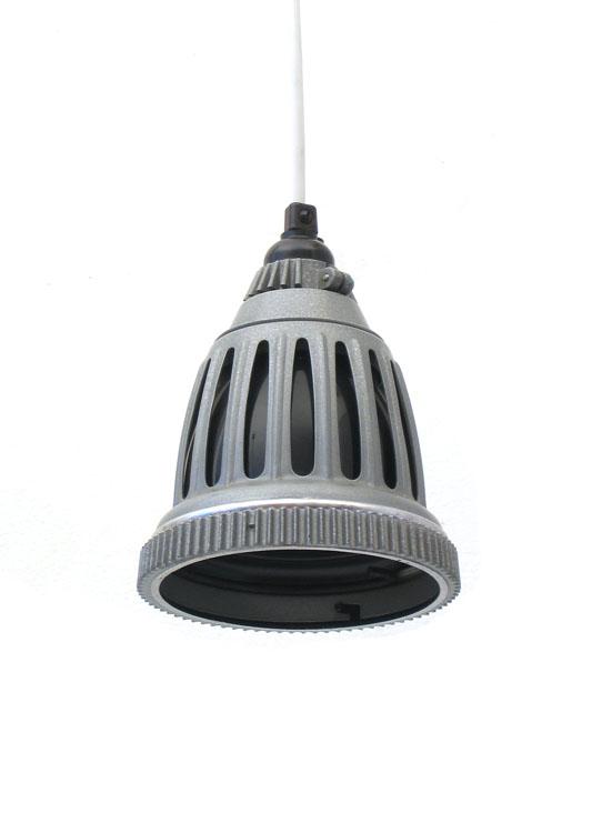 Industrial metal pendant lamp, 50s vintage retro