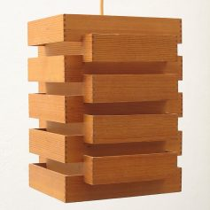 Japanese style fifties wooden pendant lamp