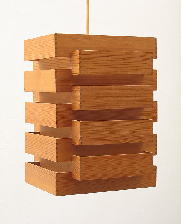 Home / Lamps / All Lamps / Japanese style fifties wooden pendant lamp