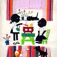 Jip en Janeke fifties embroidered artwork