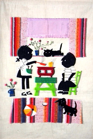 Jip en Janeke fifties embroidered artwork