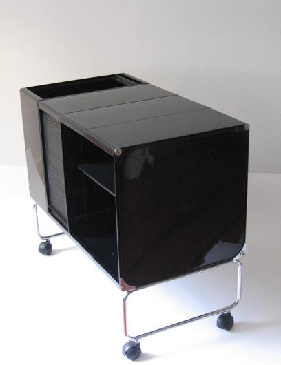 Joe Colombo square plastic system in black, 1969