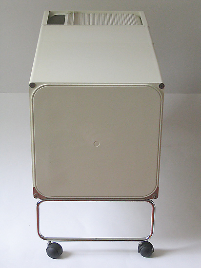 Joe Colombo square plastic system in white, 1969