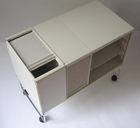 Joe Colombo square plastic system in white, 1969