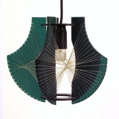 Kinetic style seventies design pendant lamp