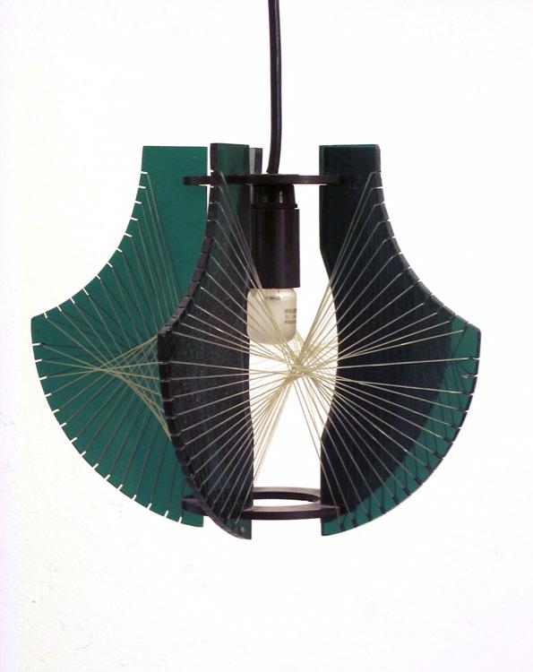 Kinetic style seventies design pendant lamp