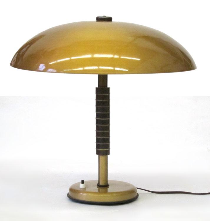 vintage meubelen rotterdam, den haag, utrecht, amsterdam - Large 60's vintage gold coloured table lamp