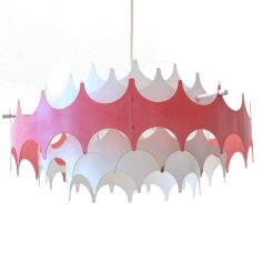 Large Doria sixties retro pendant lamp