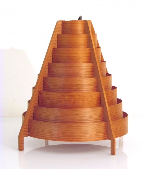 ... Table Lamps / Large Hans Agne Jakobsson fifties wooden pendant lamp