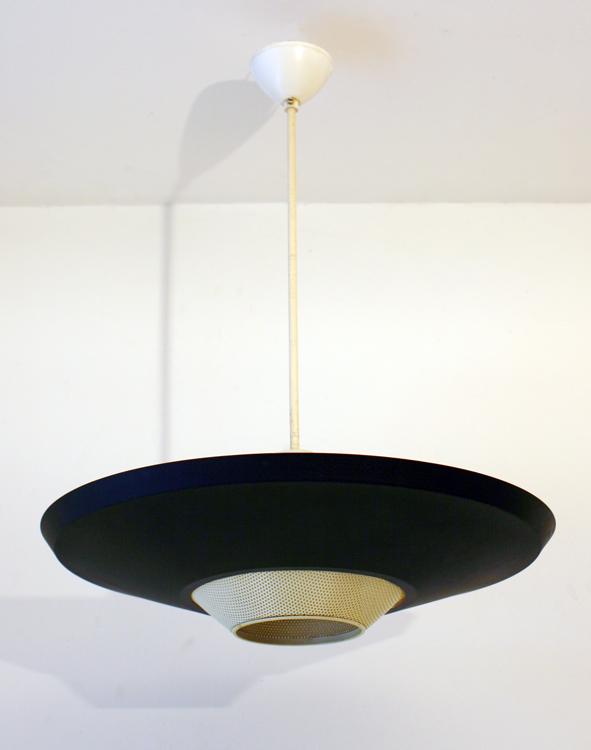 Large Louis Kalff Philips retro pendant lamp