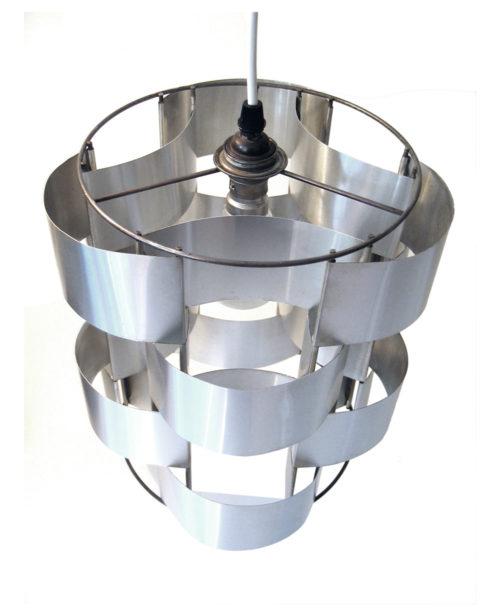 Large Max Sauze seventies vintage pendant lamp