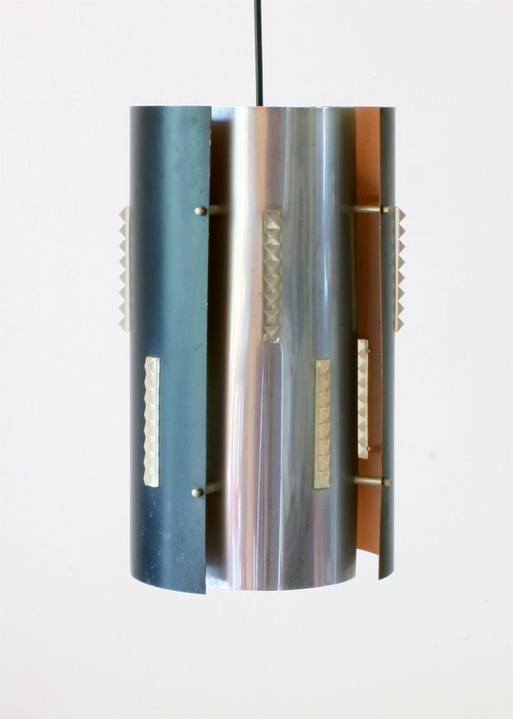 Lyfa style metal vintage sixties pendant lamp