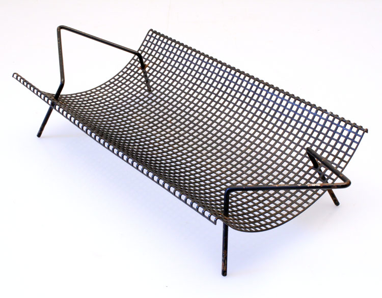 vintage furniture links: Mategot style sixties metal fruit tray