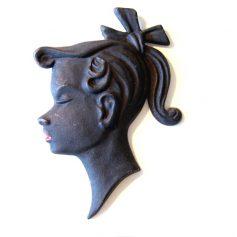 Metal fifties portrait of a girl