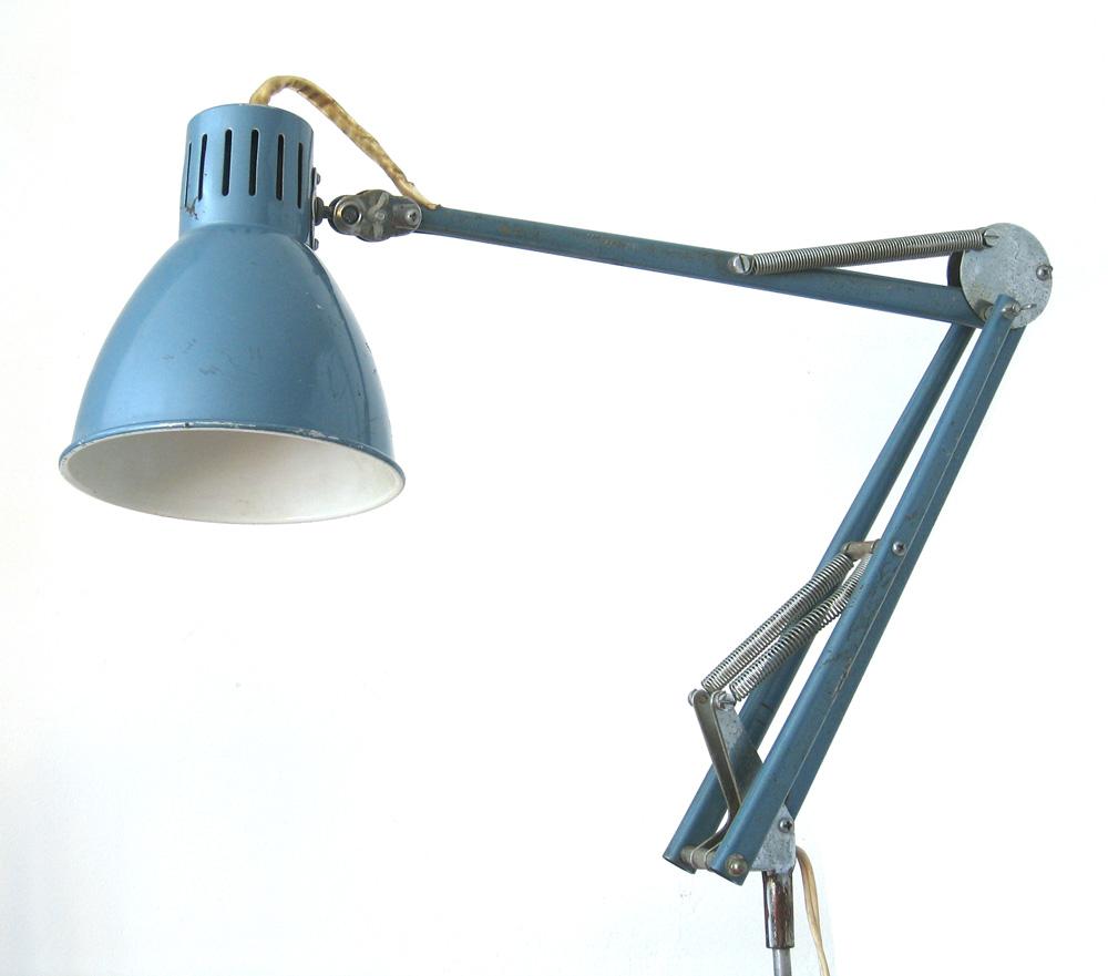 Metalic blue 60s retro task light