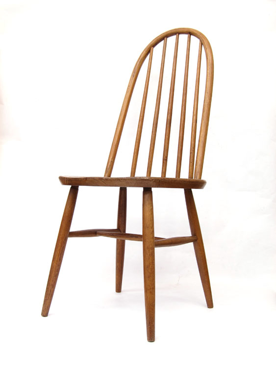 Oak Quaker chair design Lucian Ercolani, Ercol, 50s