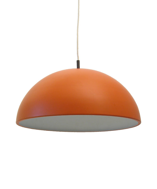 Orange Dutch Metal Sixties Vintage Pendant Lamp