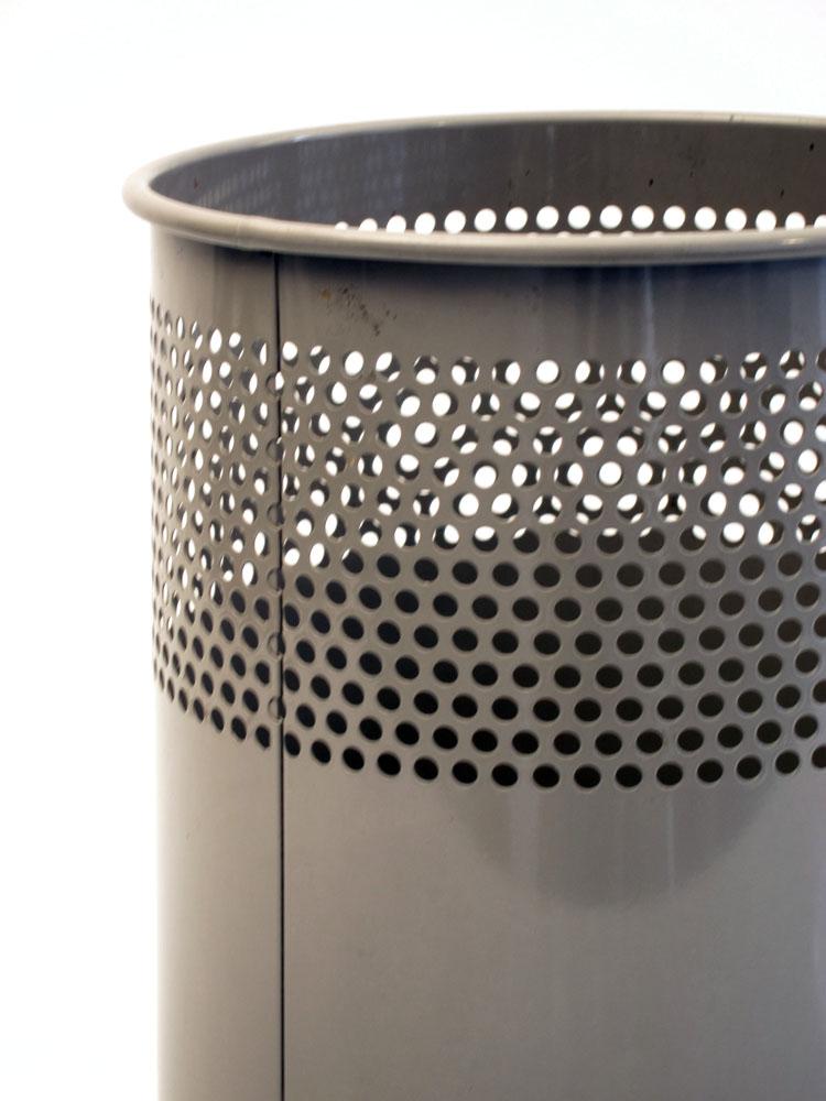 Perforated Mategot style vintage sixties metal dustbin