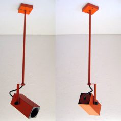 Philips orange adjustable spotlight, 60s, vintage retro